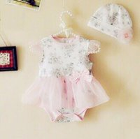 baby girl infant toddler princess romper set flower romper f...