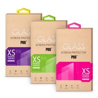 Pour iPhone 5SE 0.26mm 2.5D Protecteur d'écran en verre trempé Anti-éclaboussures Shocproof Pour iPhone 6 6S Plus S6 S7 Note 5 + Paquet