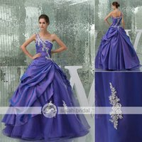2015 New Purple Prom Quinceanera Dresses For Girls Dance Deb...