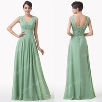 Grace Karin 2015 New Arrive Deep V- Neck Backless Chiffon Bal...