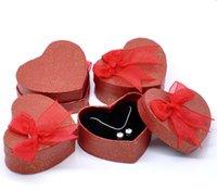60pcs lot Heart Gift Box Ribbon Bowknot Floral Print Jewelry...