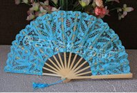 blue Lace Bridal' s hand fans wedding Fans 2015 new styl...