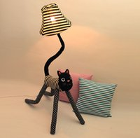 Clown cat cloth floor lamps, standing lamp creative cute chi...
