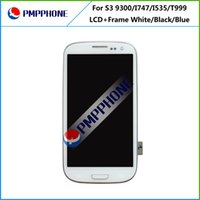 5pcs lot pour Samsung Galaxy S3 i9300 i9305 i747 T999 i530 L710 Blanc noir bleu Touch LCD Screen Digitizer + Frame Replacement Free Ship