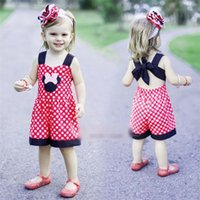 Summer Cartoon Minnie Girl Children sleeveless Dot strap pie...
