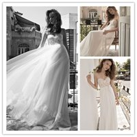 2015 Beach Wedding Dresses with Ivory Lace Simple Sweetheart...