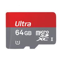 ¡¡¡Gran venta!!! 64GB 32GB 16GB robot androide 64GB Clase 10 Tarjeta SD Memroy adaptador libre Tarjeta TF SDHC C10 Tarjetas Rojas paquete al por menor de fotos