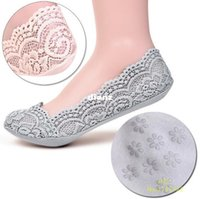 Coton Lace Antiskid Invisible Liner Low Cut Chaussettes Vente en gros