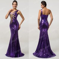 Grace Karin 2015 New Arrive Sexy One Shoulder Shining Sequin...
