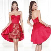 2015 Tarik Ediz Party Dresses Hi Lo Cocktail Dresses Sweethe...