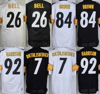 Mens Steelers Elite Jerseys #84 Antonio Brown 26 Le' Veo...