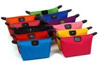 11COLORS mulheres tipo Dumpling bolsas de cosméticos capacidade de caixa de cosméticos doces cor nylon caixa de cosméticos impermeável Sacos de armazenamento congelado sacos 0567