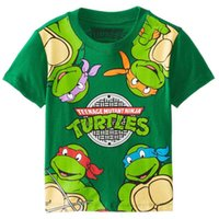 Children cartoon Printing ninja turtle Boy short- sleeved T- s...