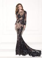 Graceful Lace Applique Sheath Evening Dresses Bateau Neck Lo...