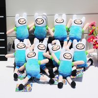 10pcs Anime Adventure Time Finn Plush Keychain Pendants Sutt...