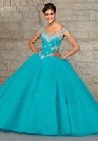 2015 Quinceanera Dresses Cheap Quinceanera Gowns Sheer Quinc...