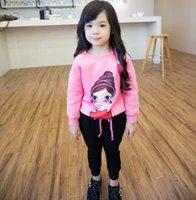 Korean Youk Shim Won Clothing Cartoon 2pcs Set Girls Hooded ...