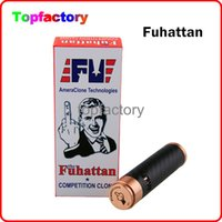 Fuhattan 1: 1 Clone 510 Thread Mod E Cigarette Machanique Mods Clone USA Manhattan Mod Fibre de carbone Fuhattan Mods Magnet Bottom et Cig Mods