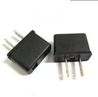 Brand New Black US Plug Adpter EU Standard Convert to US plu...
