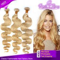 Grade 7A Blonde Human Hair Weave #613 Brazilian Body Wave Re...