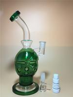 Livraison gratuite 2015 nouveau bong verre vert 9 pouces de verre Faberge Egg tubes d'eau bongs en verre avec birdcage perc 14.5mm