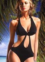 Hot Newest Sexy Womens One piece Swimwear Monokini Black Hal...