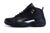Wholesale Cheap mens basketball Good Quality retro 12 black ...