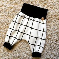 ins hot haren pants cross autumn winter grid toddler Baby Bo...