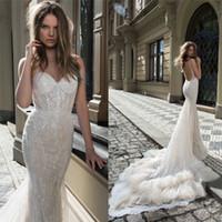 Berta Bridal Mermaid Wedding Dresses Spaghetti Sweetheart Ne...