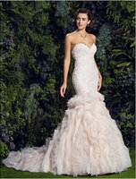 Wonderful 2015 Mermaid Wedding Dresses Sweetheart Appliques ...