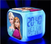 EMS 25pcs New Arrival Customization Frozen Elsa Anna Clocks ...