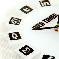 10pcs a bag GeekCook Wall Clock wall clock simple Web2. 0 for...
