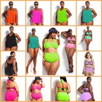 2015 Triangle Bikini Swimwear For Plus Size Women Bandage Sw...