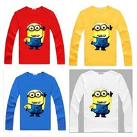 20pcs lot Red Minions Children' s Long Sleeve T- Shirts 2...