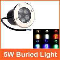 1pcs/lot 5W ha condotto la luce sotterranea lampada IP68 AC85-265V led in luci da terra per esterni lampada da giardino RGB caldo/bianco /Rosso/blu/verde L0325