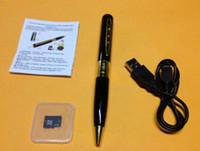 Горячая продажа HM8 32GB 1280 * 960 AVI HD Pinhole 32GB Spy Pen камера Скрытая ручка DVR 32GB TF Micro SD карта включена Скрытая бесплатная доставка