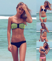 Sexy Swimwear for Womens Chest Zipper Bohemian Strapless Ban...