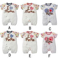 2015 NEW MeLee 100% Cotton I love Mom Dad Short- Sleeve Baby ...