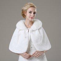 Hot Sell White Bridal Bolero Shawl Soft Warmer Faux Fur Coat...