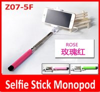 wholesale Z07- 5F Foldable extensible handheld monopod with a...
