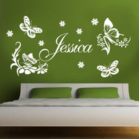 custom- made butterfly Personalized Name Vinyl Wall Stickers ...