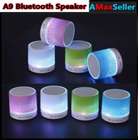 2016 A9 LED Flash Light Wireless Bluetooth Speakers Support ...