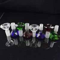 14mm 18mm Heady Colored Homme verre Bols Diamant 18.8mm 14.4mm Conduites d'eau Bongs Bols Multicolor Glass Bowl pour plates-formes pétrolières