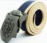 A05 Canvas Belt for Man Military Dragon Belts 21 Colors Allo...