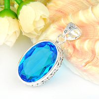 2PCS Lot Party Holiday Jewelry Gift Classic Vintage Oval Blu...
