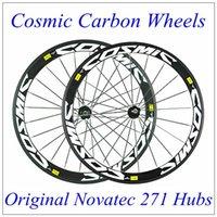 White Decals Road Bike Wheelset Cosmic Mavic Full Carbon 50m...