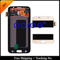 Vente en gros-Livraison gratuite Original 100% pour Samsung Galaxy S6 G9200 écran LCD -Golden