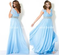 Plus Size Prom Dresses with V- Neck Halter Strap Cap Sleeves ...