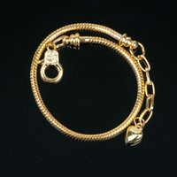 Bracelet Chain Fit European Beads Lobster Clasp Snake Charm ...