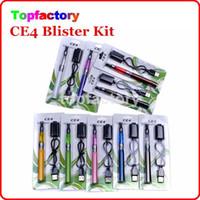 ego kit de cigarrillo Blister CE4 Kits de inicio de Electronic atomizador CE4 650mAh batería de 900mAh 1100mAh envases de plástico varios colores DHL libres